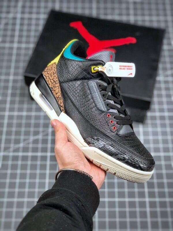 "Air Jordan 3 Retro OG ""Black Cement"" ""Nike Air"" Logo"