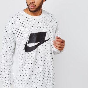 Nike SPORTSWEAR MEN LONG SLEEVE POLKA DOT KNIT TOP SUMMIT WHITE