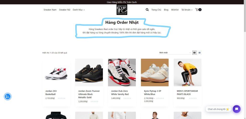 Hướng dẫn cách Order giày