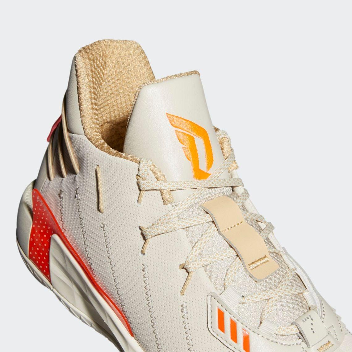 Adidas Dame 7 Cream - Orange
