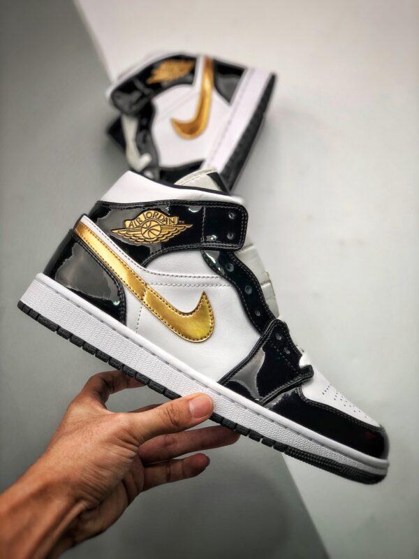 Nike Air Jordan 1 Mid Gold Black