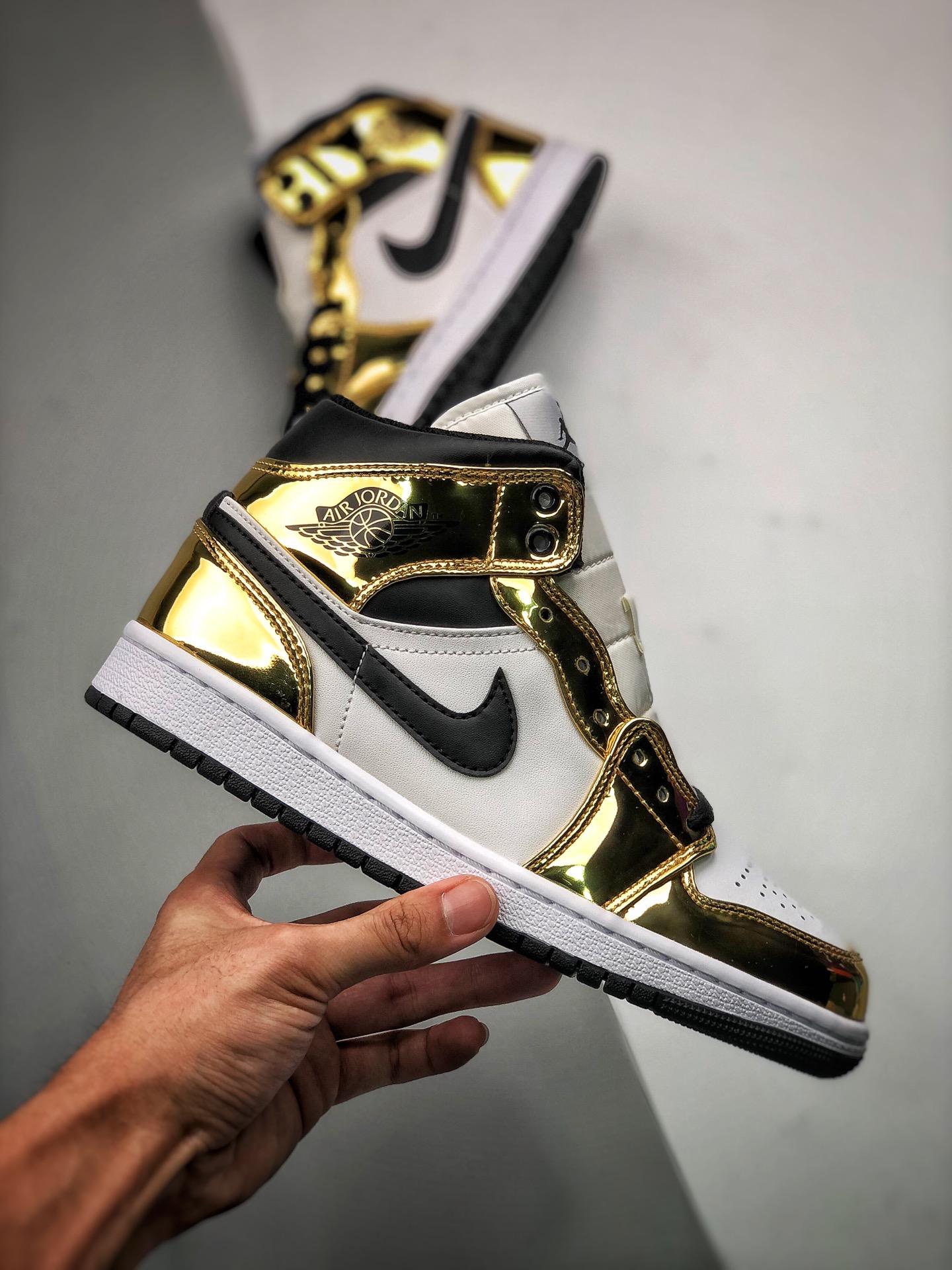 Nike Air Jordan 1 Mid Metallic Gold