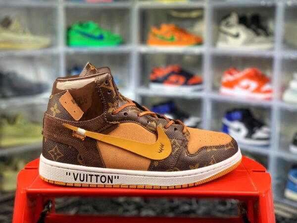 Louis Vuitton x OFF WHITE - Air Jordan 1 Virgil Abloh Relevant Customs Richie rang
