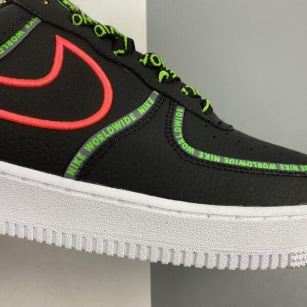 Nike Air Force 1 Worldwide Black/Flash Crimson-Green